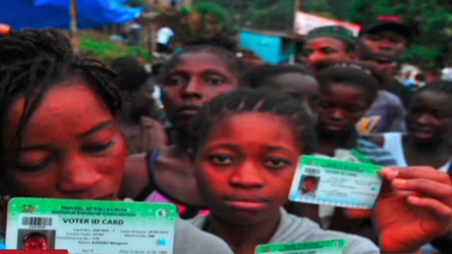 Sierra Leoneans cast their ballots
