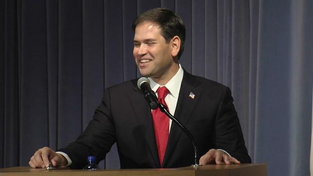 Rubio jokes about presidential run