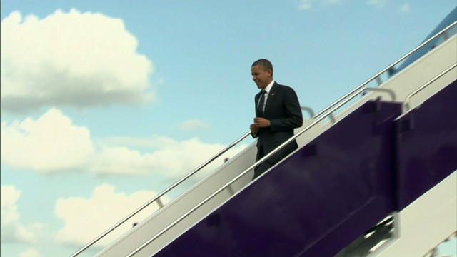 President Obama arrives In Thailand