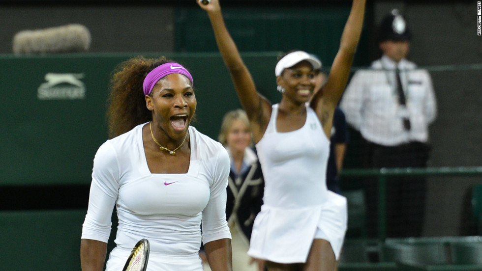Serena's London experience got even better a few hours after her singles win as she and Venus took the ladies doubles crown -- their fifth Wimbledon doubles title.