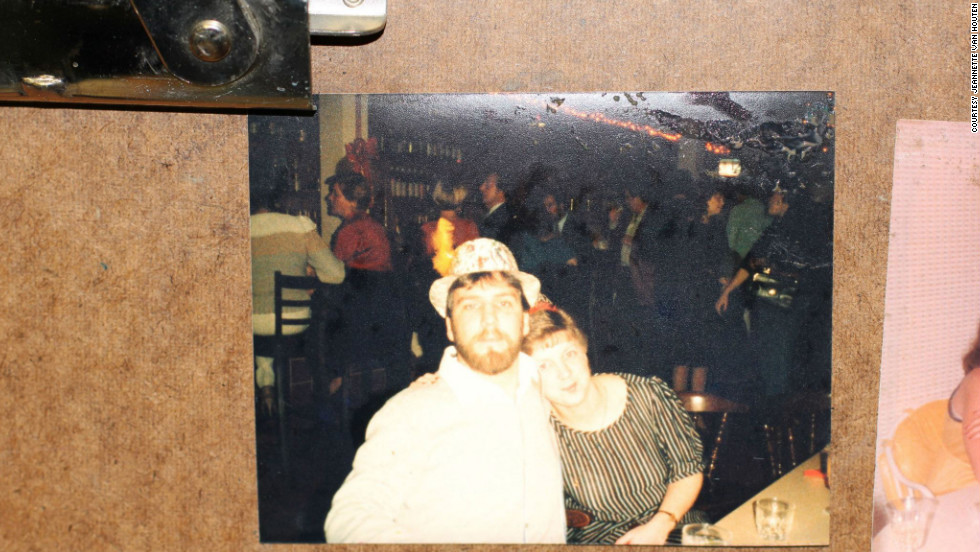 This snapshot of two people out on the town was found after Sandy tore through Union Beach.