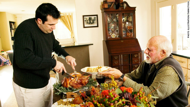 Does carving the turkey pass from father to son in your family?
