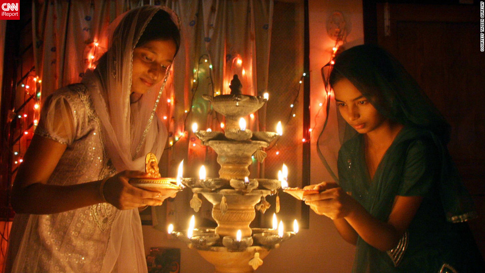 "New Delhi based student, <a href=""http://ireport.cnn.com/docs/DOC-880908"" target=""_blank"">Tazeen Qureshy</a>, snapped this image whilst visiting her home-town of Bhubaneswar, eastern India during Diwali. ""For me, Diwali is a festival to enjoy with family and friends and most importantly it illumines lives with new energy and hope,"" she says."