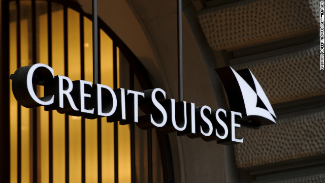 Picture taken on November 1, 2011shows the logo of the Swiss banking giant Credit Suisse in Zurich. The bank on July 11, 2012 that German fiscal authorities had raided several clients livi