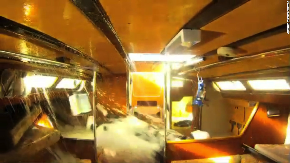 Inside footage of the capsize experiment revealed that even a pen could become a dangerous projectile unless secured down.