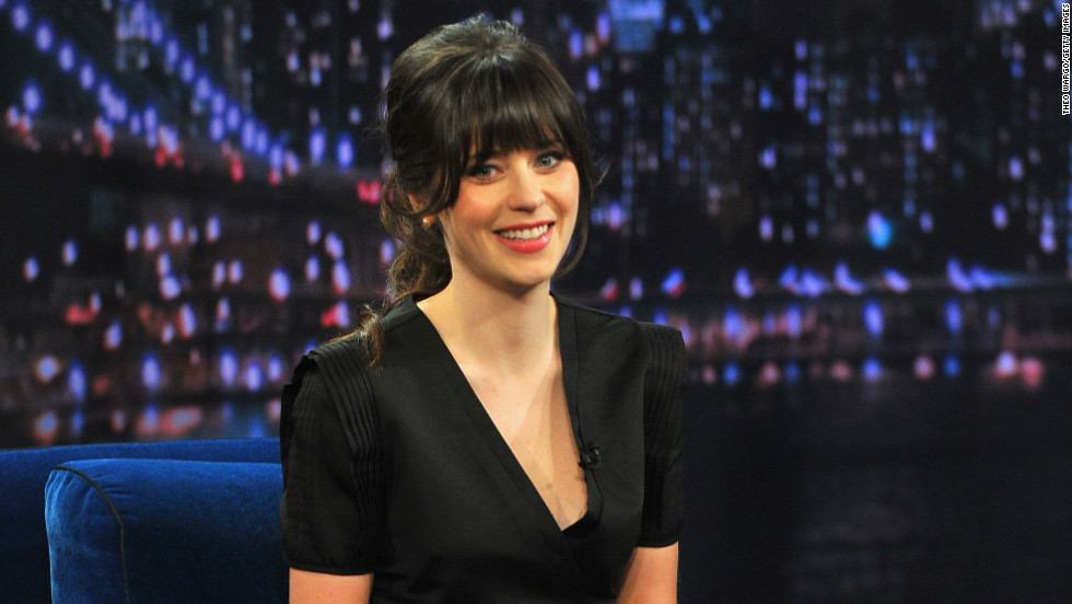 "Zooey Deschanel visits ""Late Night With Jimmy Fallon."""