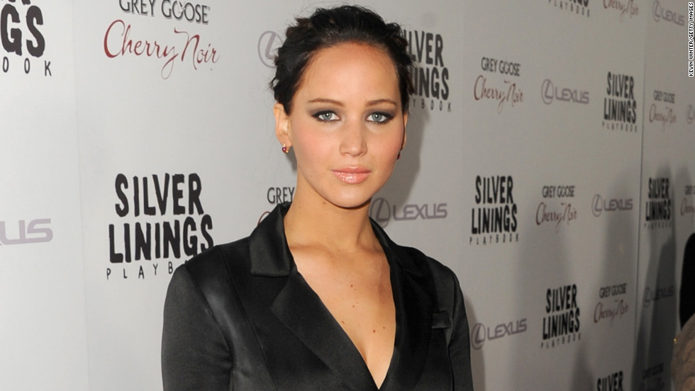 "Jennifer Lawrence attends a screening of her new movie, ""Silver Linings Playbook,"" in Beverly Hills."