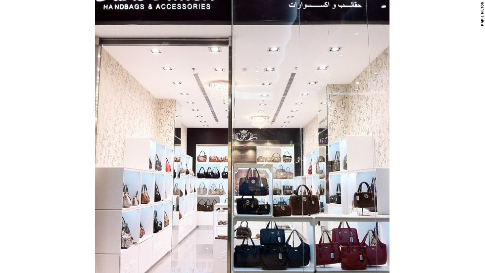 "Hilton tweeted: ""Loving my beautiful new store that just opened at Mecca Mall in Saudi Arabia!"" with this picture of the store."