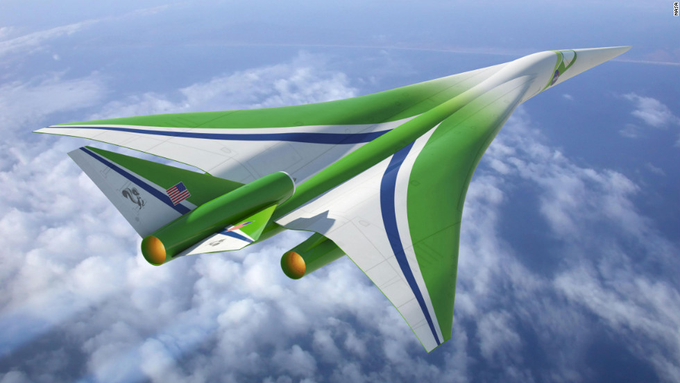 This concept for a civil aircraft capable of flying faster than the speed of sound was designed with a specific shape to reduce the level of sonic booms.