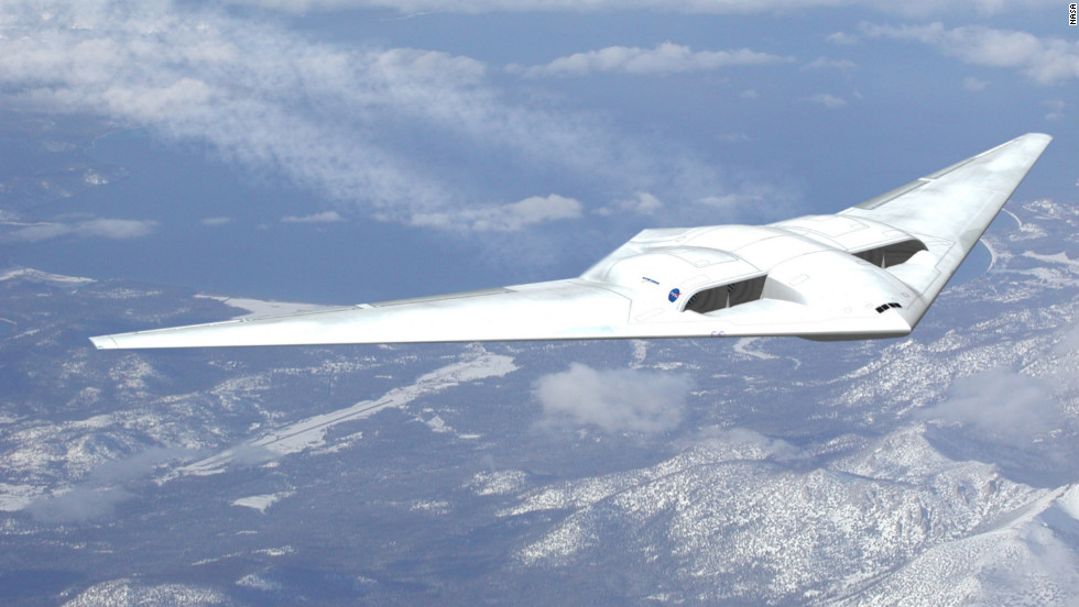 "Northrup Grumman's previous experience with military ""flying wing"" designs led to this concept which NASA describes as extremely aerodynamic."