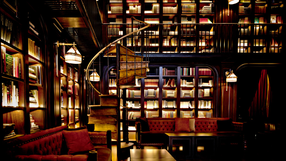 The hotel houses a grand library that comes complete with an eclectic literary collection.