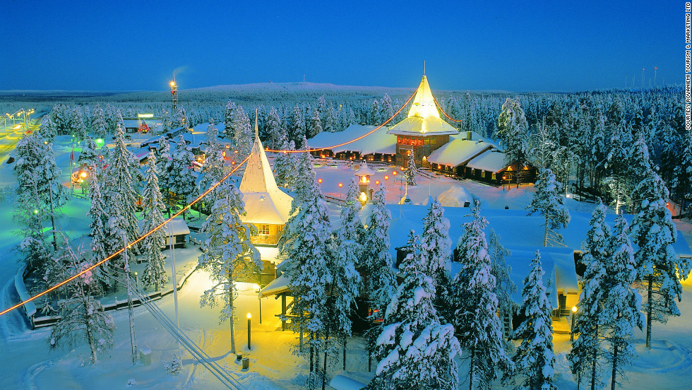 "Far north, in Rovaniemi, Finland, ""the official home of Santa Claus"" has many attractions, including Santa himself."