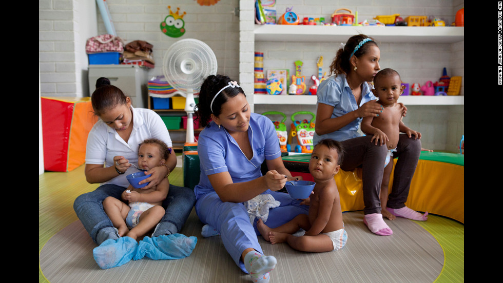 """""""Catalina has created a beautiful, modern space to help these young mothers,"""" photographer Johnson said. """"Even in my short stay, I felt the positive energy at the center."""""""