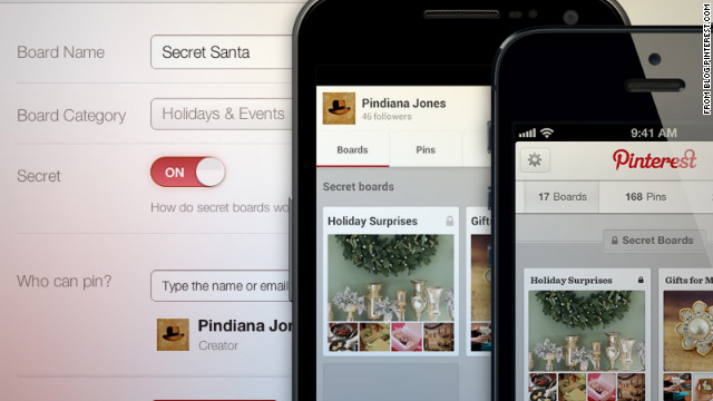 "Pinterest, the social network that lets users ""pin"" collections of images, offer some fresh approaches to online gift-giving."