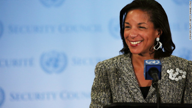 U.S. Ambassador to the United Nations Susan Rice addresses the media following a UN Security Council meeting on July 11, 2012 .