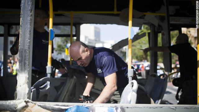 Suspect arrested in Tel Aviv bus bombing