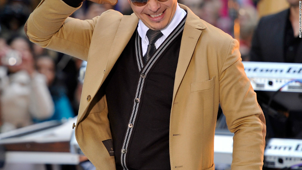 "Pitbull rocks the stage at NBC's ""Today"" show on November 21 in New York City."