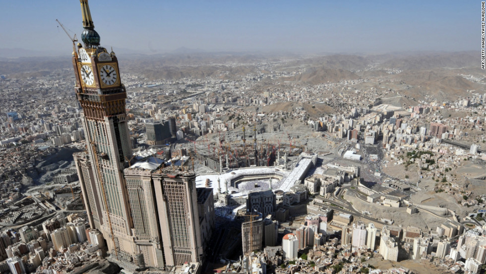 Amid international outcry in 2002, an Ottoman fortress was demolished to make way for the Abraj Al-Bait Towers, also known as the Mecca Royal Hotel Clock Tower.