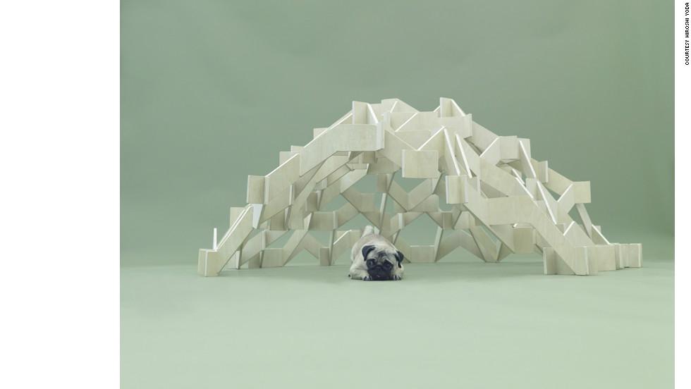 """""""Mount Pug"""" by Kengo Kuma."""
