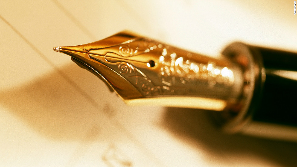 """OfThriceAndTen claimed  a """"classic man"""" would value a good-quality fountain or ballpoint pen."""