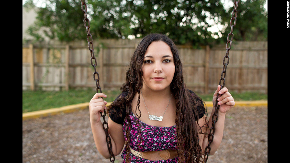 "When she feels stressed from her responsibilities, Mimi swings in the park next to her home. ""The kids don't have a voice,"" Siskowski said, ""so they need somebody to be their voice, to be their advocate."""
