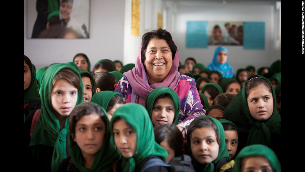 "Razia Jan is fighting to educate girls in rural Afghanistan, where terrorists will stop at nothing to keep them from learning. She and her team at the Zabuli Education Center are <a href=""http://www.cnn.com/2012/08/02/world/meast/cnnheroes-jan-afghan-school/index.html"">providing a free education</a> to about 350 girls, many of whom wouldn't normally have access to school."