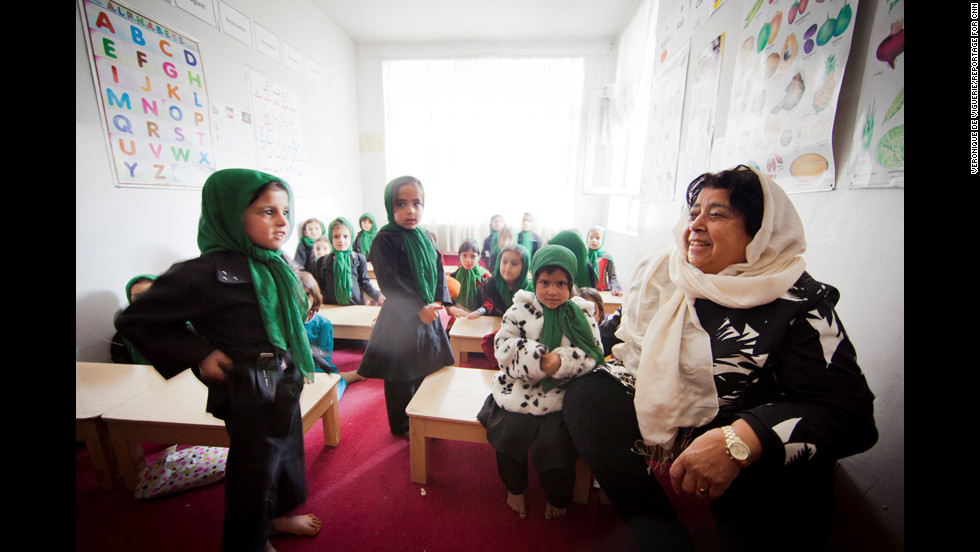 """To shield the students from attacks, Jan has built a new stone wall to surround the school. She also employs staff and guards who test the water for poison and check the air quality for gas. """"People are so much against girls getting educated,"""" Jan said. """"So we have to do these precautions."""""""