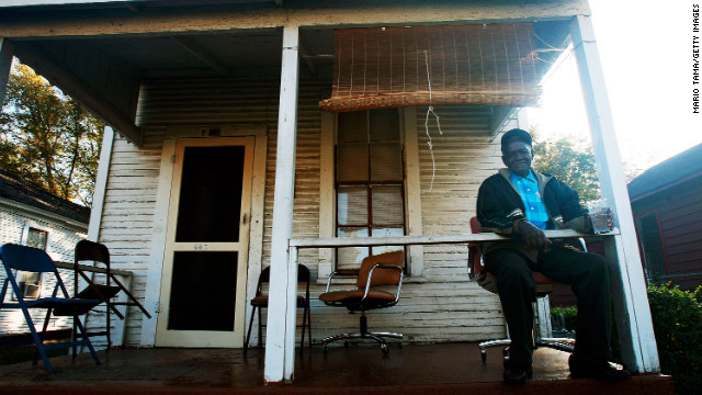 Emmitt Coleman, 81, relaxes after voting in Alabama. An Alabama county has taken the Voting Rights Act to the Supreme Court.