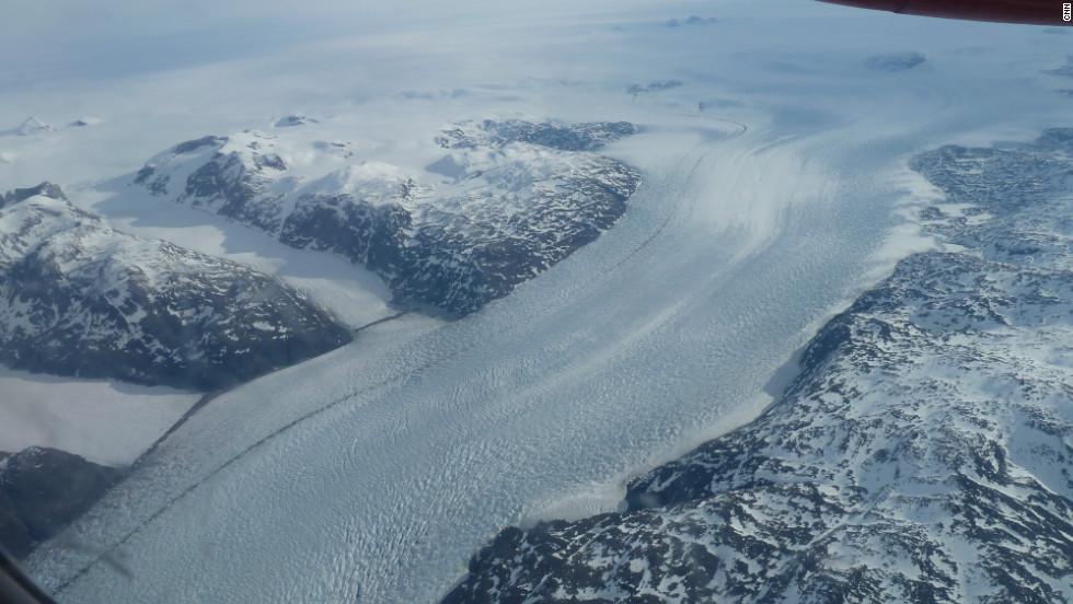 Giant glacier near Narsarsuaq, Greenland.