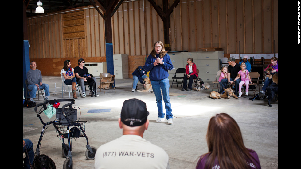 Many U.S. war veterans are finding peace and stability back at home thanks to the calming influence of service dogs. Cortani often matches veterans with dogs from shelters or rescue groups, and then she helps them train the dog.