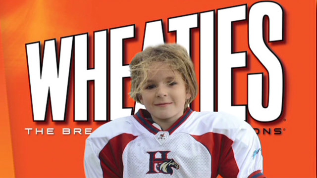 Girl football star, 9, on Wheaties box