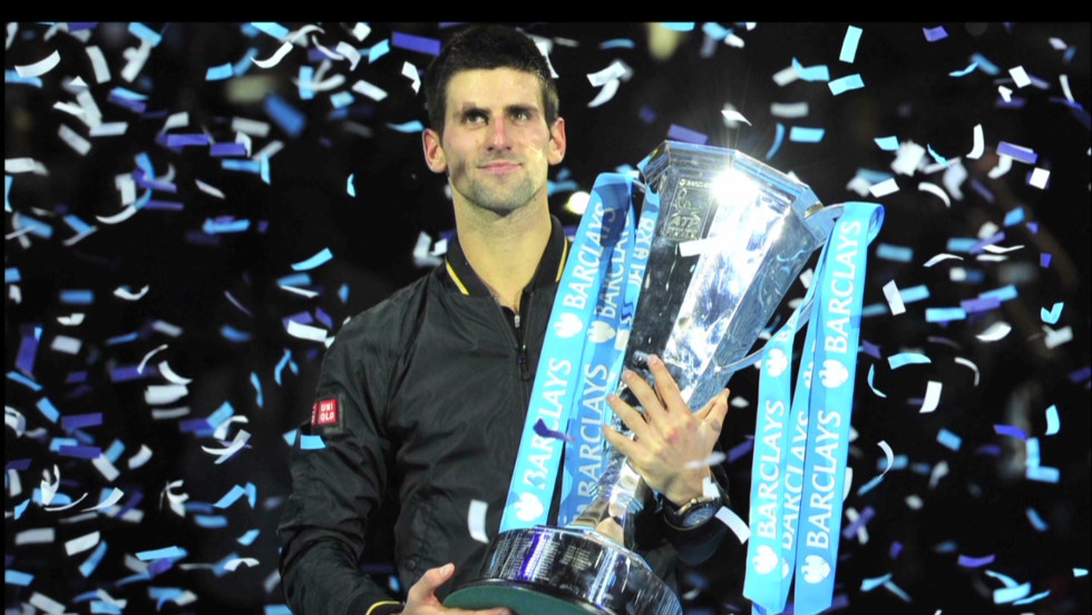 Djokovic's victory over Roger Federer in the final of the 2012 ATP World Tour Finals gave him the year-end No. 1 ranking for the second season in a row.