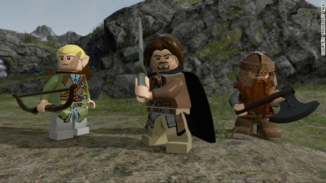 Characters in the new Lord of the Rings LEGO game deliver lines from the movies.