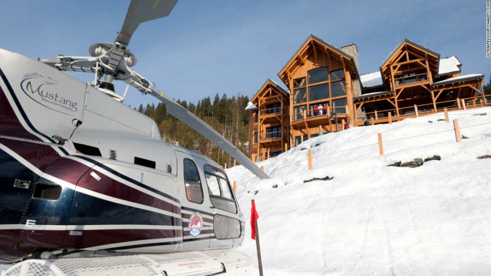 Bighorn is an apt title for this palatial chalet on the Rainbow Range of mountains in British Columbia. It sleeps 16 and comes with its own helipad.  Also included are a Teppanyaki grill, an outdoor fireplace and a hot tub with a sparkling vista.