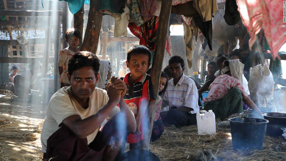 Tens of thousands of Muslim Rohingya are forced to live in apalling conditions after fleeing from their homes.