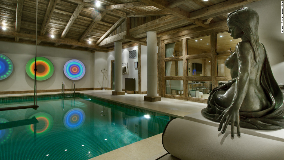 "You may have come to ski but when you are off piste there are few better chalets to keep you entertained than La Grand Roche, which has a full cinema room with a 103"" HD television. There is even a waterproof 42"" TV in the pool area. Yours for just $120,400 a week."
