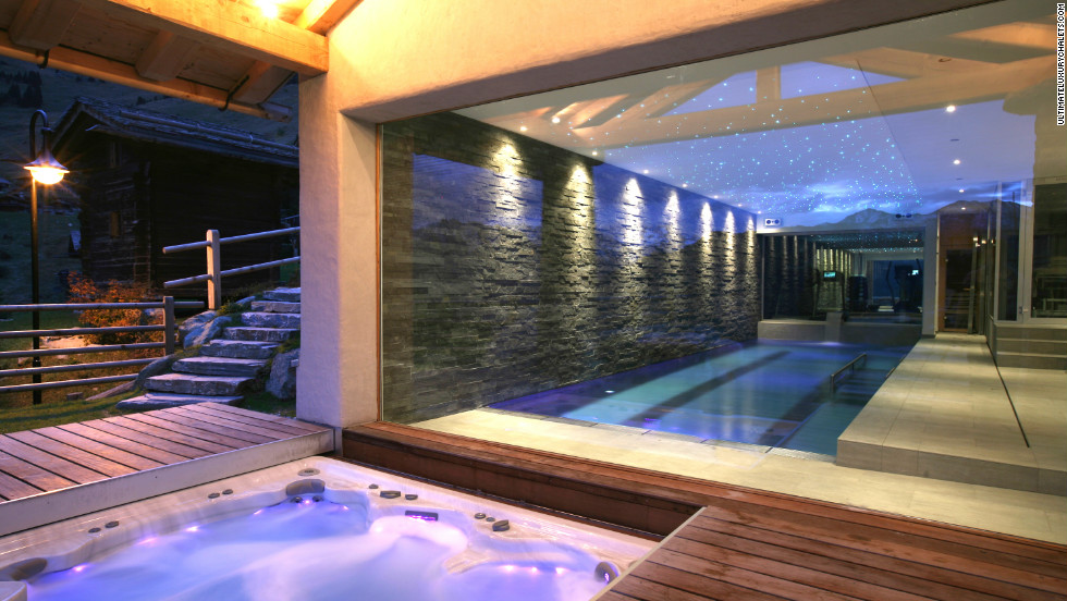 Spa's spa is fitted to the highest standard of course, but perhaps the outdoor seven seater jacuzzi is a better bet with its views of the Alps? There is a Scandinavian rock sauna, therapy room and a humidification system throughout to promote restful sleep.