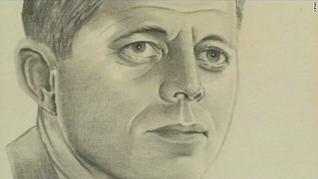 JFK portrait hidden behind $5 painting