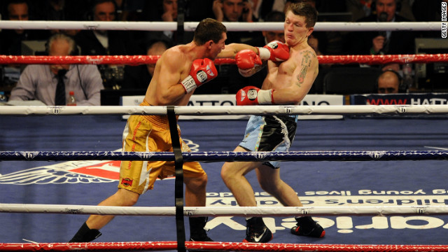 Ricky Hatton suffered a ninth-round knockout defeat by Vyacheslav Senchenko on his return to the ring.