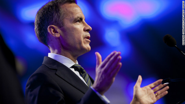 "Bank of England Governor Mark Carney said rates would remain on hold at 0.5% -- subject to ""knockout"" conditions on inflation -- until unemployment fell below 7%."