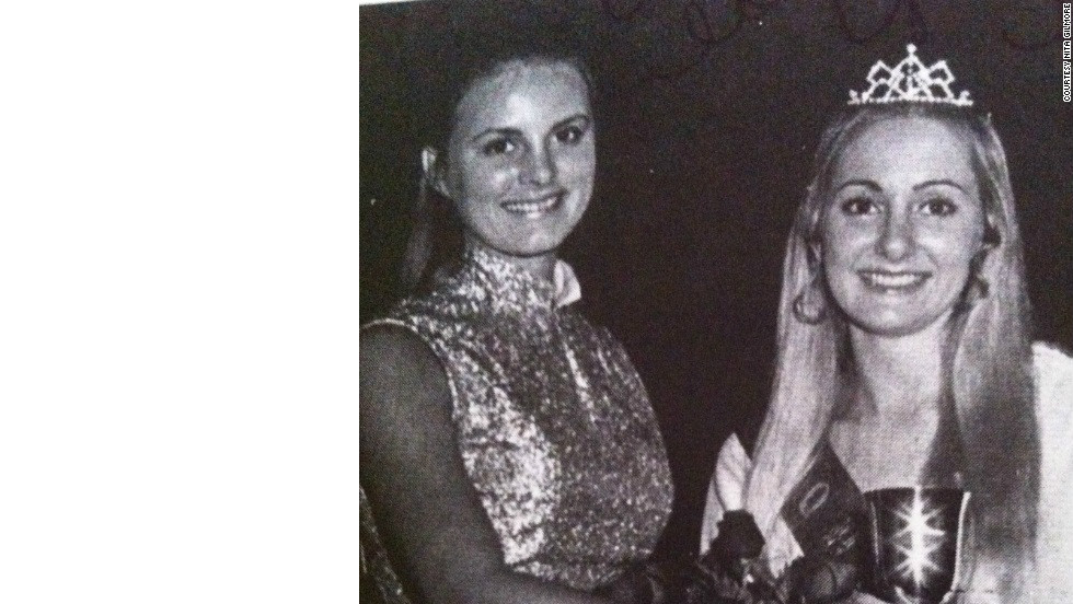 A decade later, Sherry Downs and Nita Gilmore celebrate homecoming in 1972.