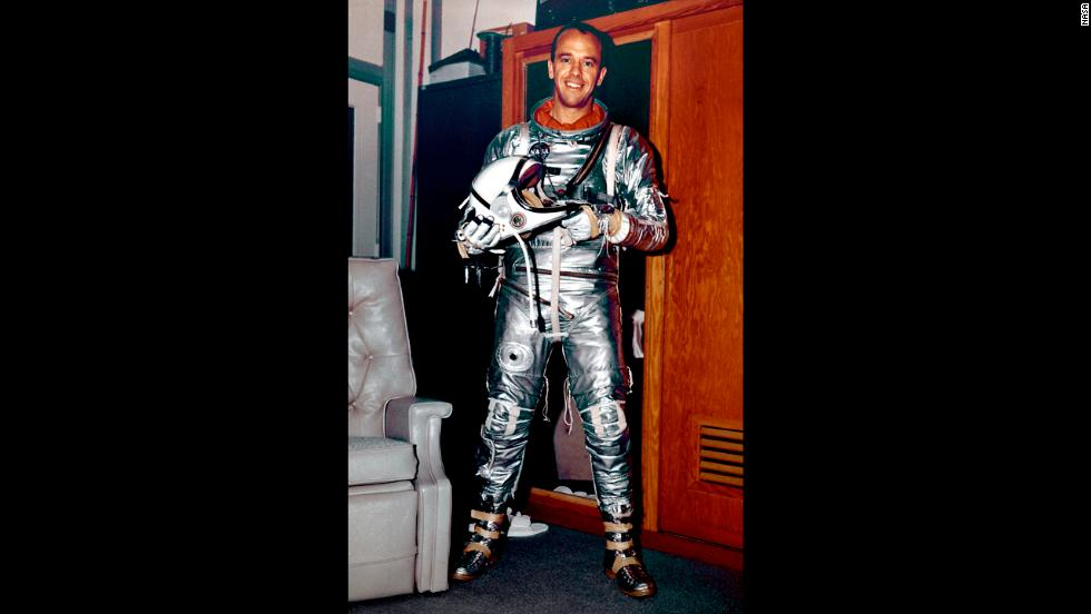 Less than a month after Gagarin's trip, astronaut Alan Shepard became the first American to travel into space. On May 5, 1961, Shepard piloted Freedom 7, the first manned Mercury program mission, in a suborbital flight that lasted a little more than 15 minutes.
