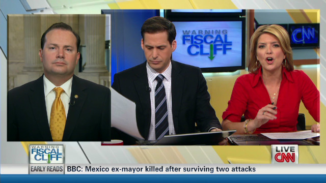 Sen. Lee talks fiscal cliff, deficit
