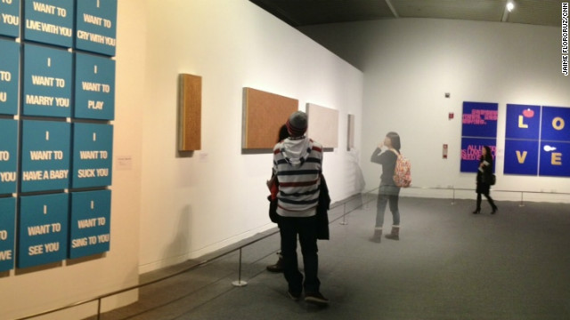 Ai Jing's 200 works inside the National Museum include installations of art panels, paintings and sculptures.