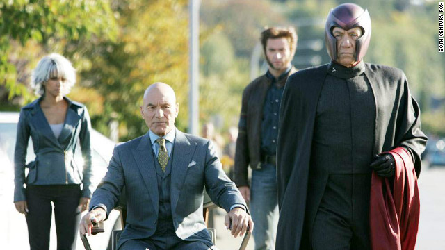"Patrick Stewart and Ian McKellen as Prof. X and Magneto in 2006's ""X-Men: The Last Stand."""