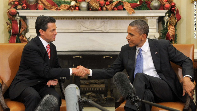 President Enrique Peña Nieto and President Barack Obama meet in 2012.