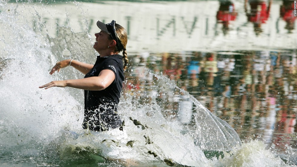 Swede Annika Sorenstam made a splash on the women's tour as the most successful player in the women's game notching up 10 major titles