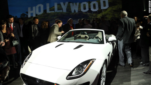 Jaguar's two-seat sports car, the 2014 F-TYPE is revealed on November 27, 2012 in Los Angeles.