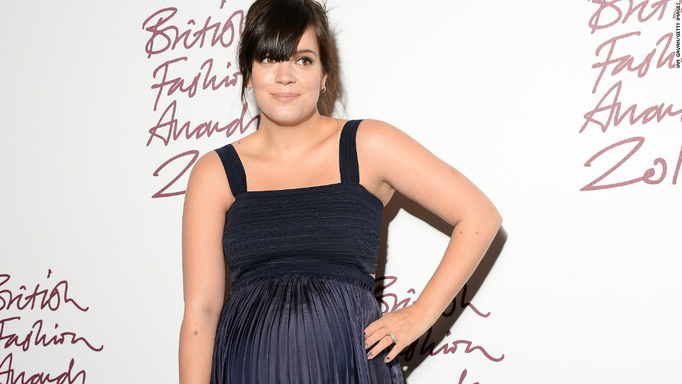 A radiant Lily Allen arrives at the 2012 British Fashion Awards in London on November 27.