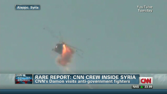 Rare report: CNN crew inside Syria
